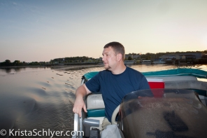 Brent Bolin of the Anacostia Watershed Society on a boat ride in the river.