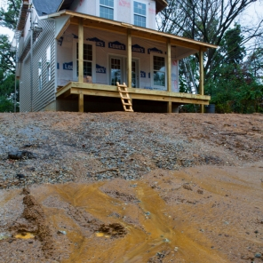 Silted stormwater runoff from residential construction in Mount Rainier, MD.